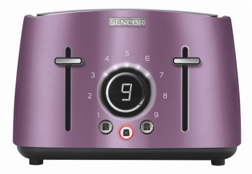 Sencor 4-Slot Toaster with Digital Button and Rack - Violet Perspective: front