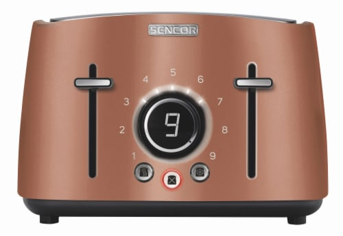 Sencor 4-Slot Toaster with Digital Button and Rack - Gold Perspective: front