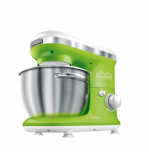 Sencor Stand Mixer with Pouring Shield - Green Perspective: front