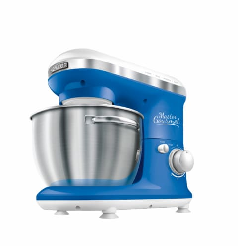 Sencor Stand Mixer with Pouring Shield - Blue Perspective: front