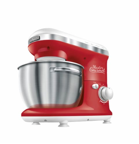 Sencor Stand Mixer with Pouring Shield - Red Perspective: front