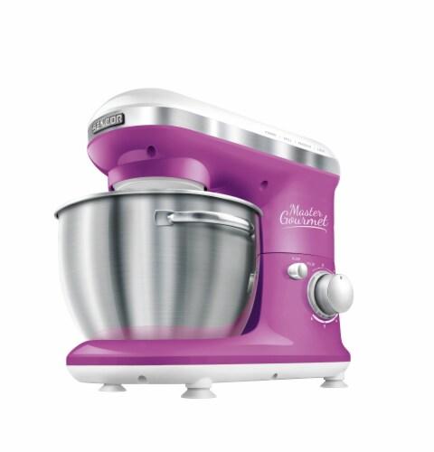 Sencor Stand Mixer with Pouring Shield - Violet Perspective: front
