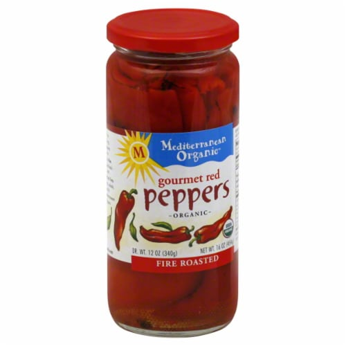 Mediterranean Organic Red Peppers Perspective: front