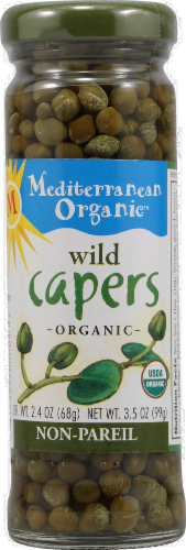 Mediterranean Organic Wild Capers Perspective: front