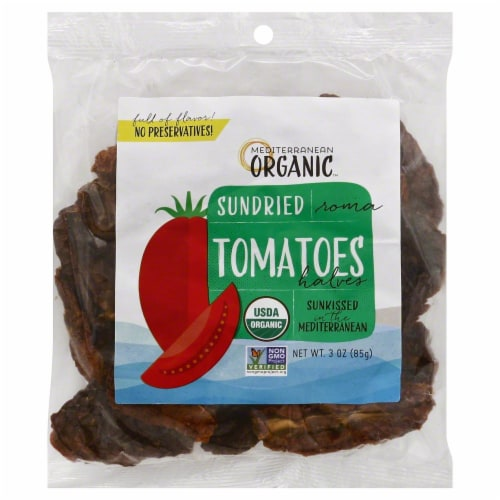 Mediterranean Organic Sundried Roma Tomatoes Halves Perspective: front