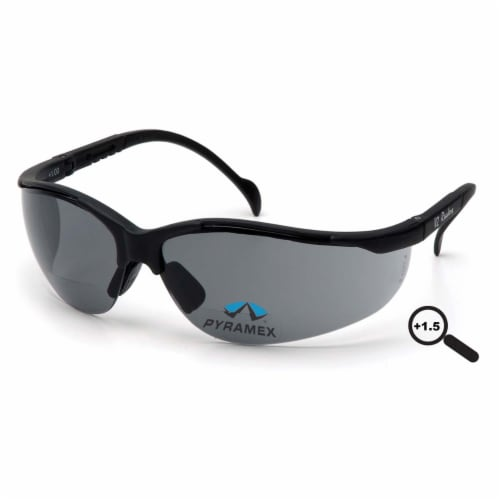 Pyramex Bifocal Safety Read Glasses,+1.50,Gray  SB1820R15 Perspective: front