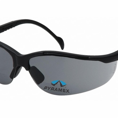 Pyramex Bifocal Safety Read Glasses,+2.50,Gray  SB1820R25 Perspective: front
