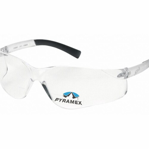 Pyramex Bifocal Safety Read Glasses,+2.50,Clear  S2510R25 Perspective: front