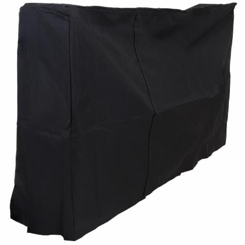 Sunnydaze Log Rack Cover Black Outdoor Waterproof Weather-Resistant PVC - 6' Perspective: front