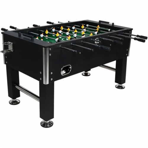 """Sunnydaze 55"""" Foosball Game Table with Drink Holders - Sports Arcade Soccer Perspective: front"""