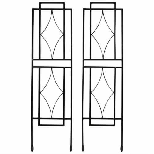"Sunnydaze 30"" Durable Metal Wire Contemporary Garden Trellis for Plants-Set of 2 Perspective: front"