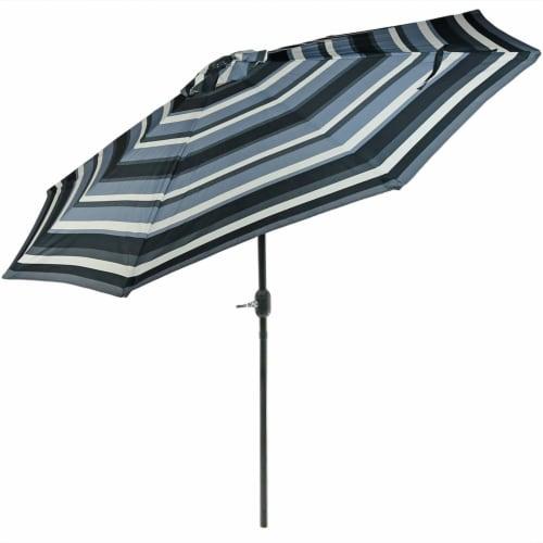 Sunnydaze 9' Aluminum Outdoor Patio Umbrella w/Push Button Tilt - Catalina Beach Perspective: front