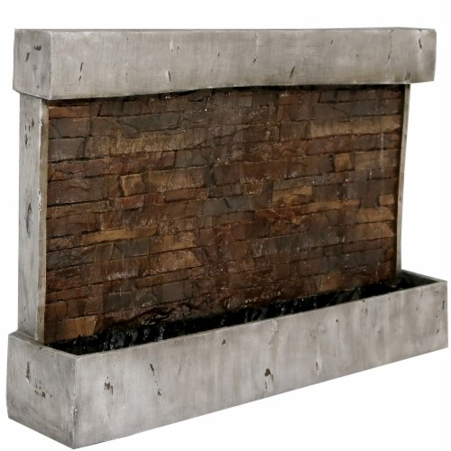 Sunnydaze Ancient Waterfall Wall, Outdoor Wall Mounted Water Fountains