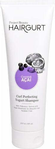 Project Beauty Hairgurt Curl Perfecting Coconut Acai Yogurt Shampoo Perspective: front