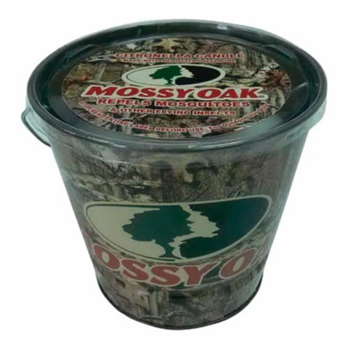 Mossy Oak Citronella Bucket Candle For Mosquitoes/Other Flying Insects 16 oz. - Case Of: 6; Perspective: front