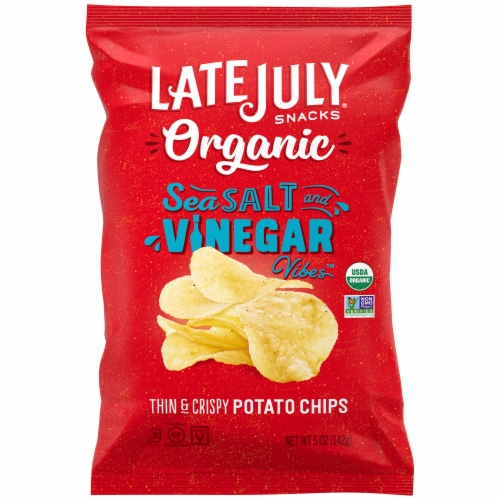 Late July Organic Sea Salt & Vinegar Potato Chips Perspective: front