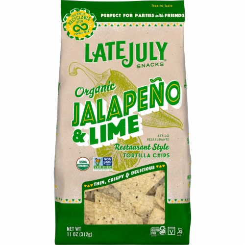 Late July Organic Jalapeno Lime Restaurant Style Tortilla Chips Perspective: front