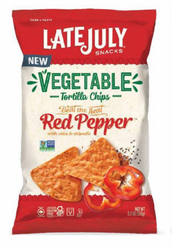 Late July Organic Multigrain Red Pepper Tortilla Chips Perspective: front