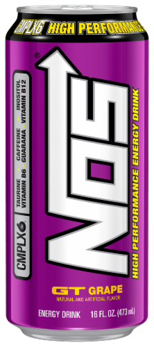 NOS Grape High Performance Energy Drink Perspective: front