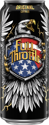 Full Throttle Original Citrus Energy Drink Perspective: front