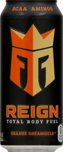 Reign Orange Dreamsicle Energy Drink Perspective: front