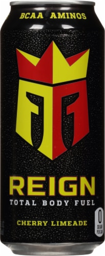 Reign Total Body Fuel Cherry Limeade Energy Drink Perspective: front