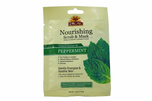 OKAY Pure Naturals Peppermint Nourishing Scrub & Mask Perspective: front