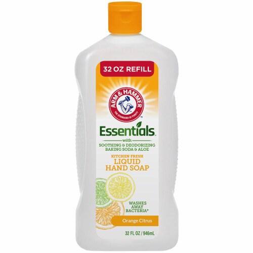 Arm & Hammer Essentials Orange Citrus Liquid Hand Soap Refill Perspective: front