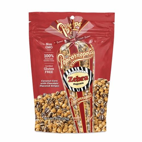 Popcornopolis Zebra Popcorn Perspective: front