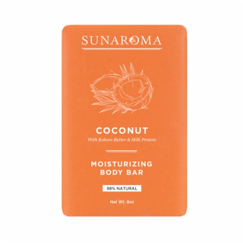 Sunaroma Organic Coconut Oil Body Bar Soap Perspective: front