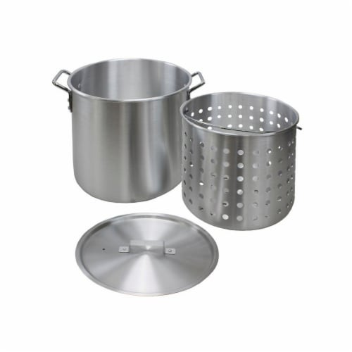 CHARD Aluminum Stock Pot - Silver Perspective: front