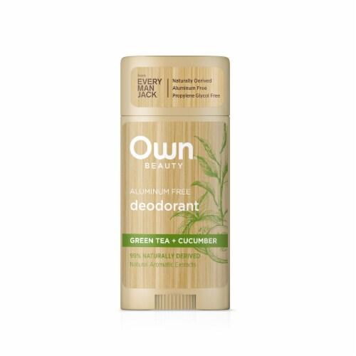 Own Aluminum Free Green Tea + Cucumber Deodorant Perspective: front