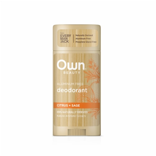 Own Beauty Citrus + Sage Aluminum Free Deodorant Perspective: front