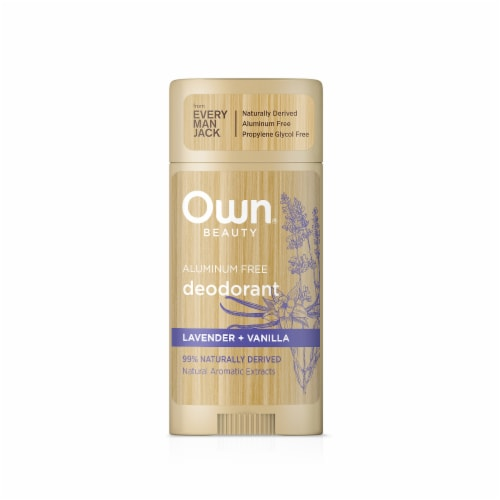 Own Beauty Aluminum Free Lavender Vanilla Deodorant Perspective: front