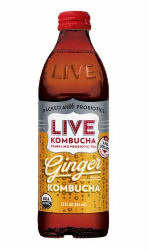 Live Soda Ginger Kombucha Perspective: front