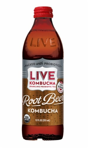 Live Soda Rootbeer with Probiotics Perspective: front