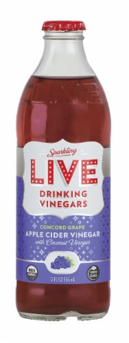 Live Sparkling Drinking Vinegars Concord Grape Perspective: front