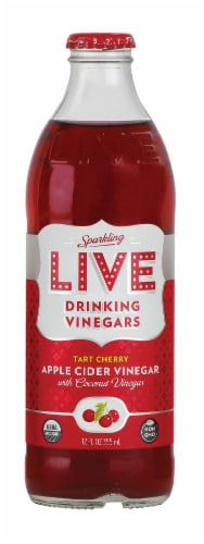 Live Sparkling Tart Cherry Drinking Vinegars Perspective: front