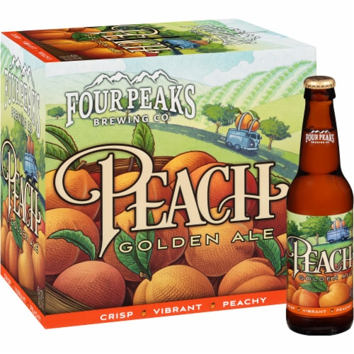 Four Peaks Brewing Peach Golden Ale Perspective: front