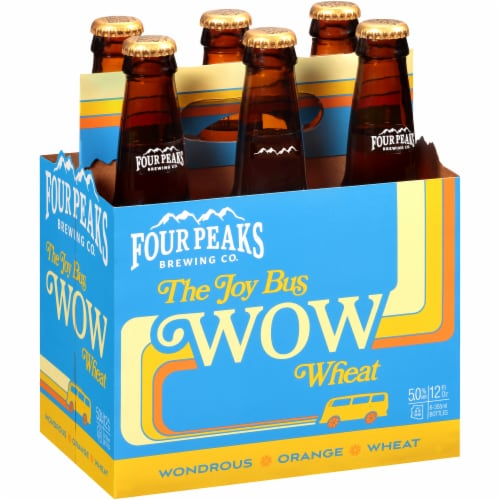 Four Peaks Brewing The Joy Bus Wow Wheat Beer Perspective: front