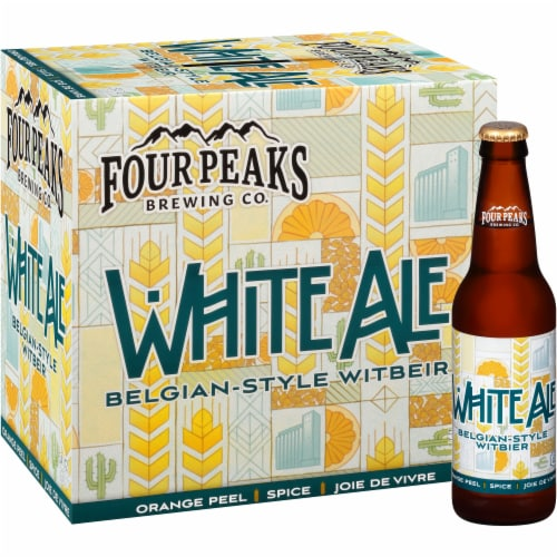 Four Peaks Brewing White Ale Belgian-Style Witbeir Perspective: front