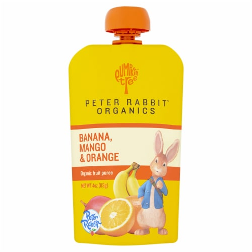 Peter Rabbit Organic Banana Mango & Orange Puree Pouch Perspective: front