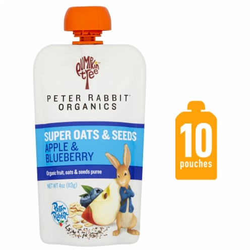 Peter Rabbit Organics Super Oats & Seeds Apple & Blueberry Baby Food Perspective: front