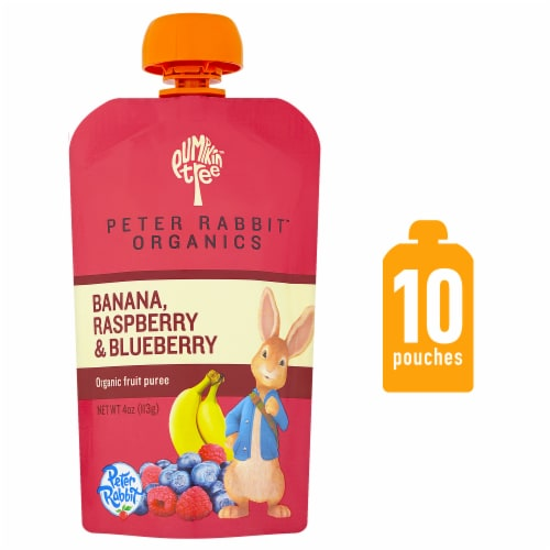 Peter Rabbit Organics Banana Raspberry & Blueberry Puree Perspective: front
