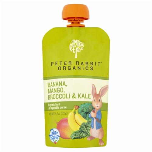 Peter Rabbit Organics Banana Mango Broccoli & Kale Puree Perspective: front