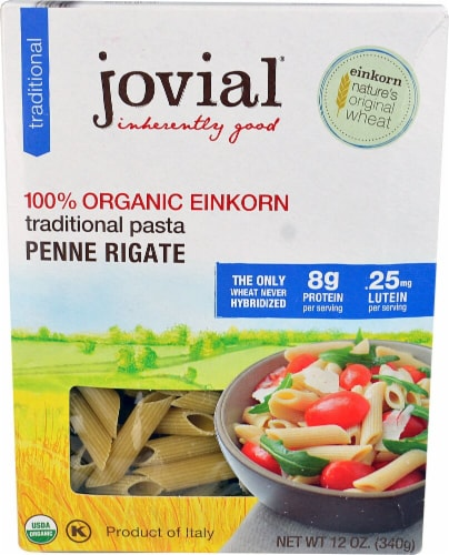 Jovial  Organic Einkorn Traditional Pasta Penne Rigate Perspective: front