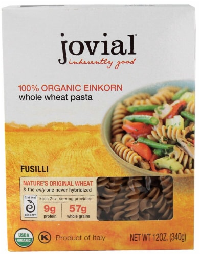 Jovial  Organic Einkorn Fusilli Whole Wheat Pasta Perspective: front