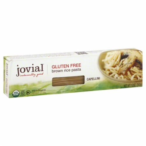 Jovial Organic Capellini Brown Rice Pasta Perspective: front