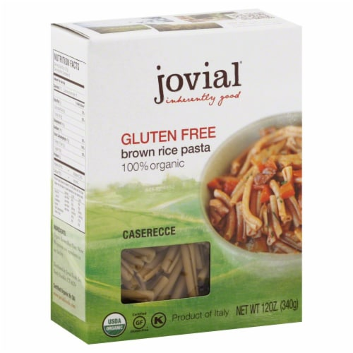 Jovial Brown Rice Pasta Organic Gluten Free Perspective: front