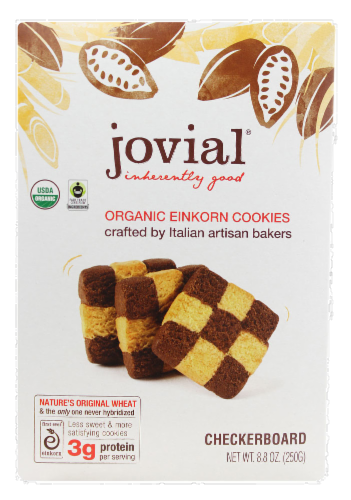 Jovial Organic Checkerboard Einkorn Cookies Perspective: front
